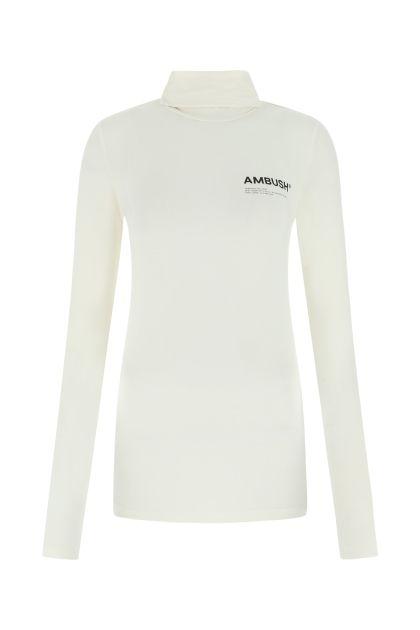 Ivory stretch viscose sweater