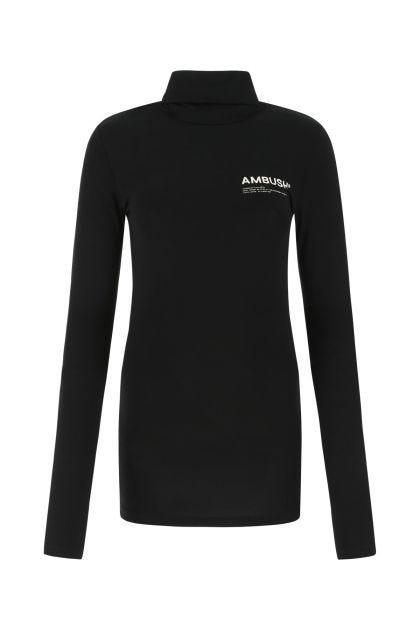Black viscose stretch sweater
