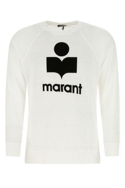 White linen Kieffer sweatshirt