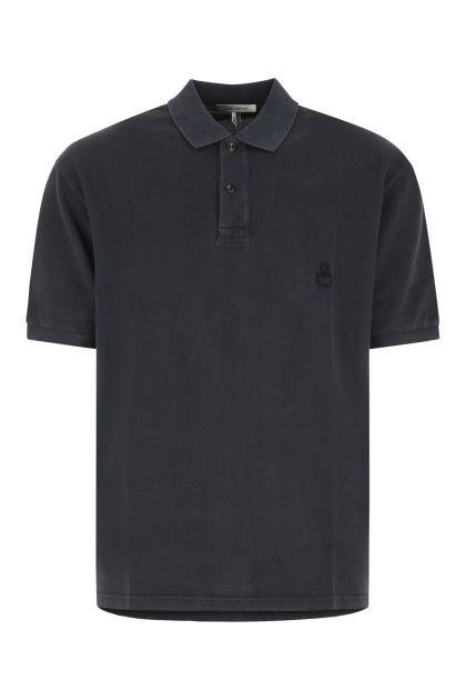Charcoal piquet oversize Anafiko polo shirt