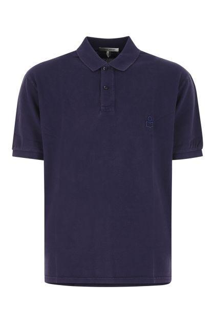 Purple piquet Anafiko polo shirt