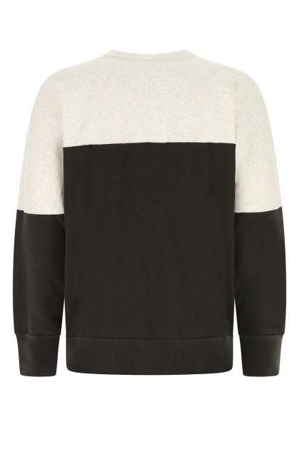 Two-tone cotton blend oversize Howlei sweatshirt