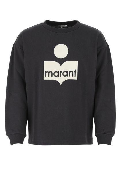 Black cotton blend Menjiri oversize sweater