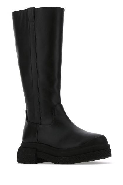Black leather Charlie boots