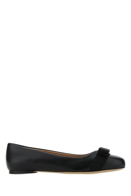 Black leather Varina ballerinas