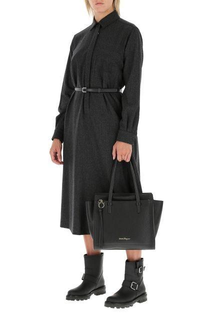Black leather Amy handbag