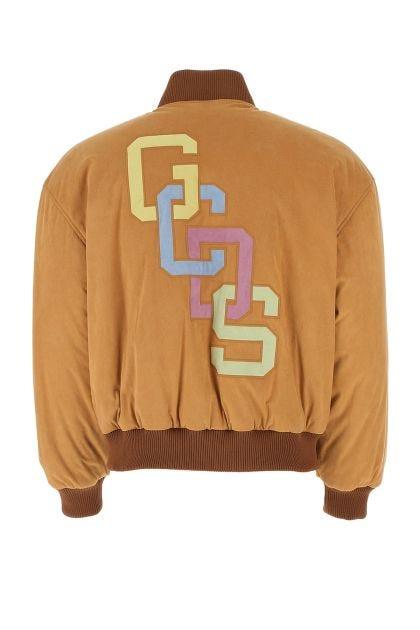 Camel polyester blend padded jacket