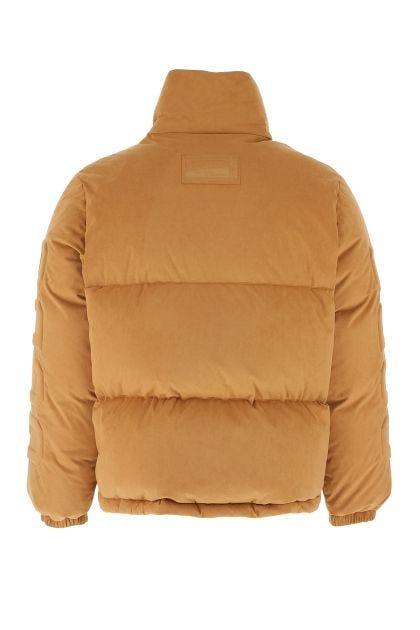 Camel polyester blend down jacket
