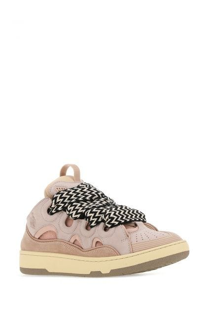 Pink fabric and leather sneakers Curb