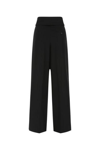 Black light wool wide leg pant