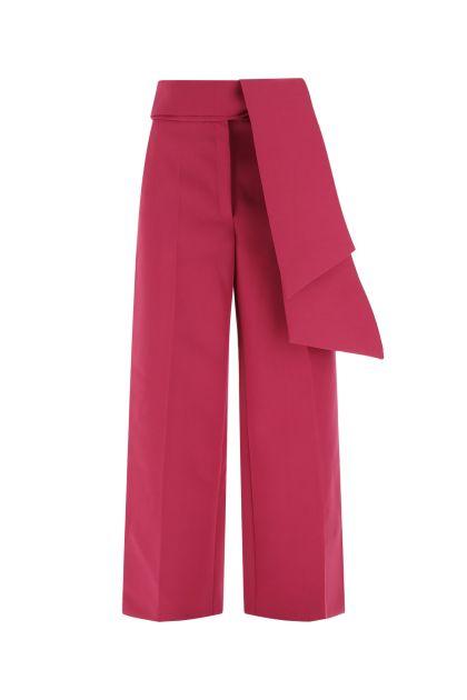 Fuchsia light wool wide leg pant