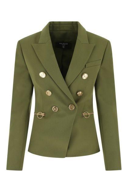 Olive green wool blazer