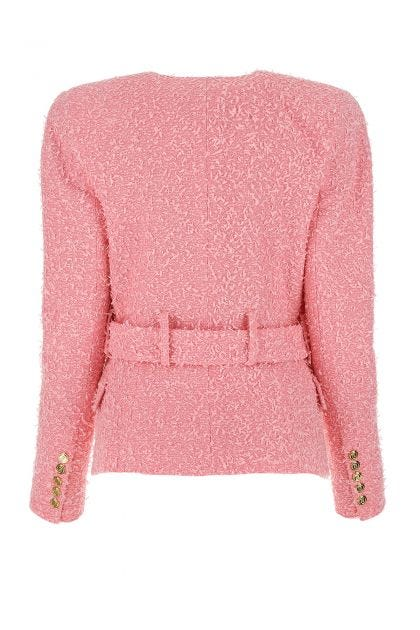 Pink boucle blazer
