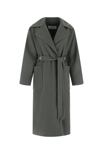 Dark grey wool blend coat