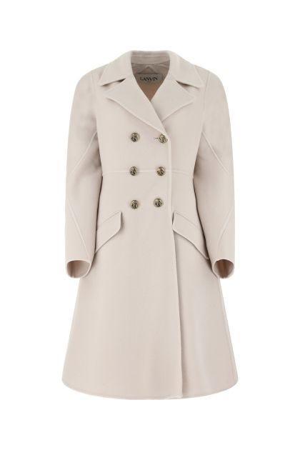 Chalk wool blend coat