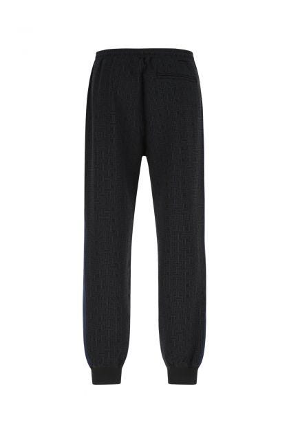 Embroidered stretch viscose blend joggers