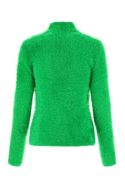Grass green stretch nylon blend top