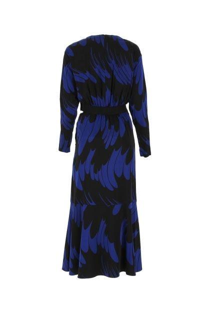 Printed stretch viscose Magnolia dress