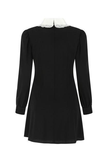 Black stretch crepe mini dress