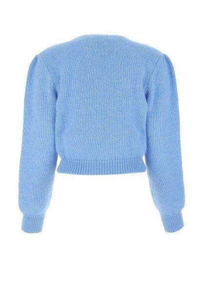 Light blue mohair blend sweater