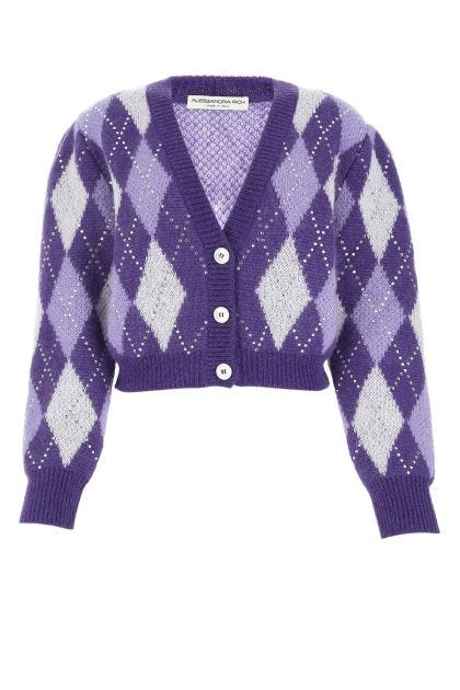 Multicolor mohair blend cardigan