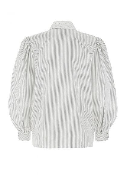Embroidered popeline shirt