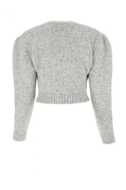Melange grey alpaca blend sweater