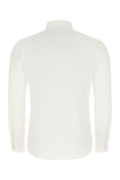 White stretch nylon shirt