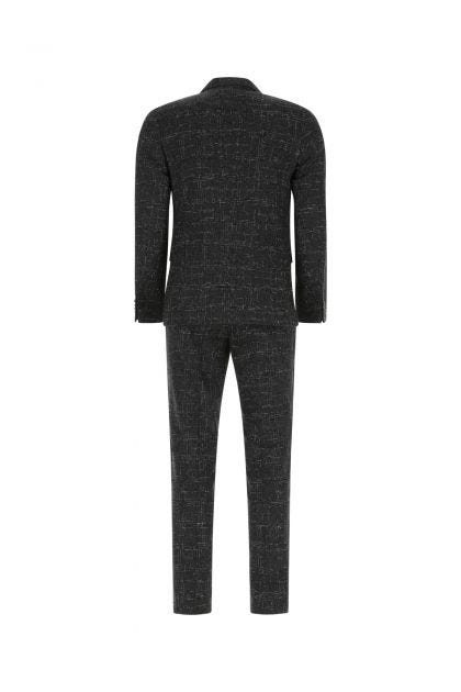 Embroidered wool blend suit