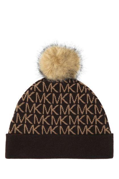 Multicolor wool blend beanie hat