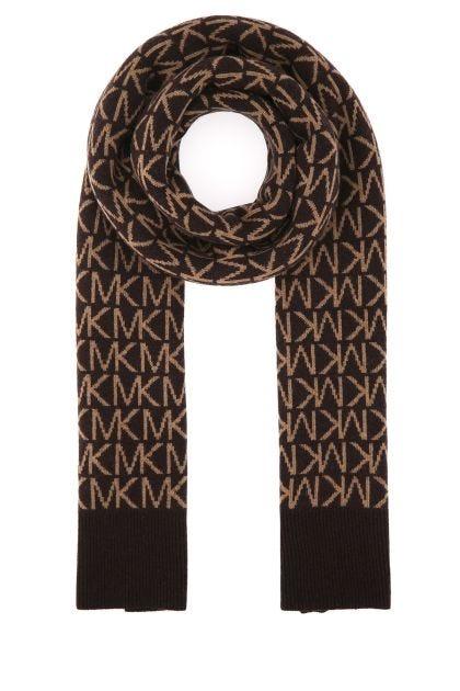 Multicolor wool blend scarf