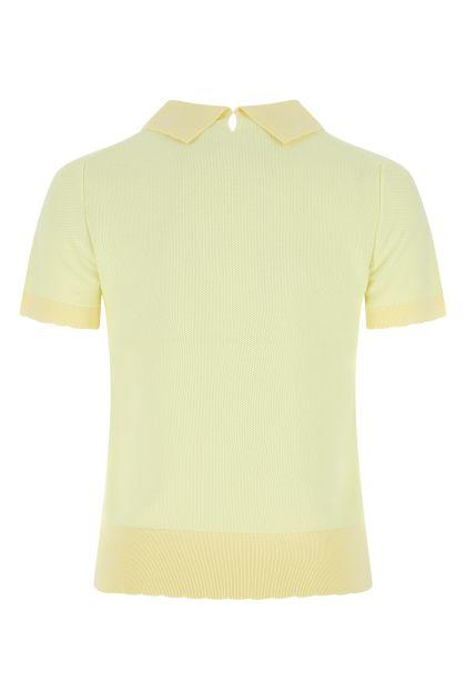 Yellow cotton polo shirt
