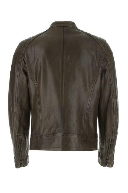 Mud leather jacket