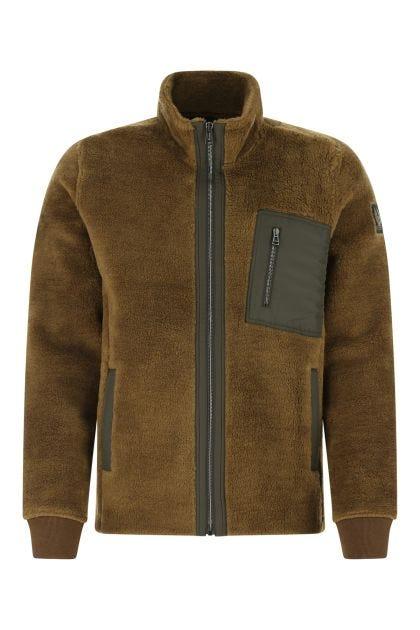 Khaki pile Herne jacket
