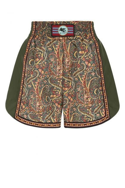 Multicolor polyester shorts
