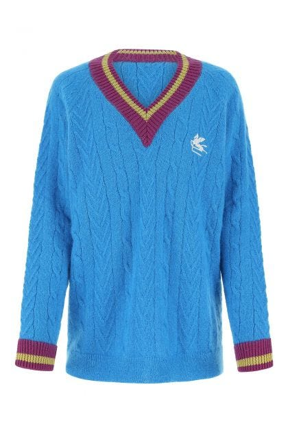 Turquoise mohair blend sweater