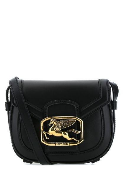 Black leather Pegaso crossbody bag
