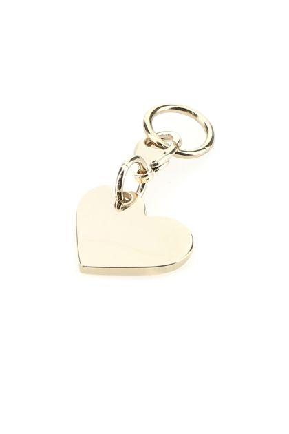 Golden metal Heart keyring