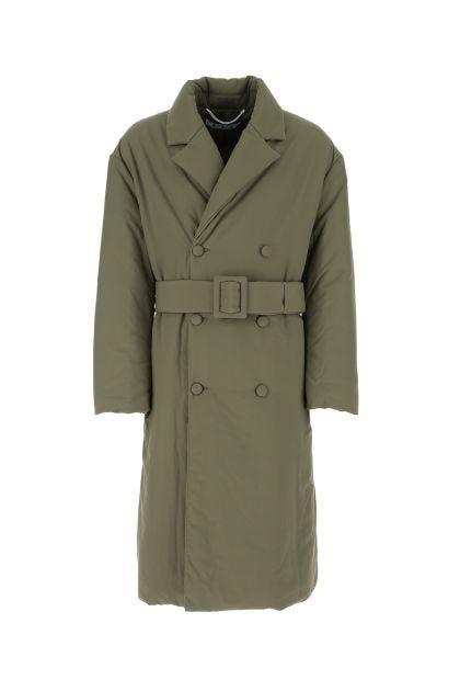Khaki nylon padded coat