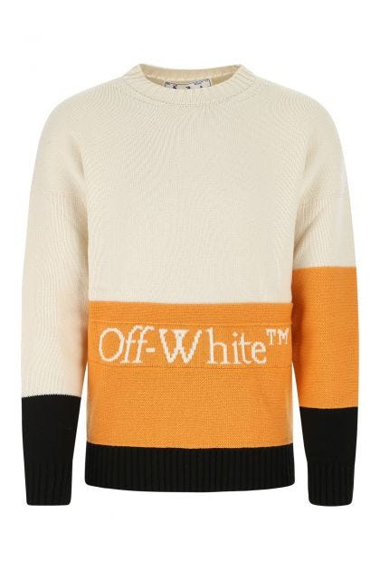 Multicolor virgin wool sweater