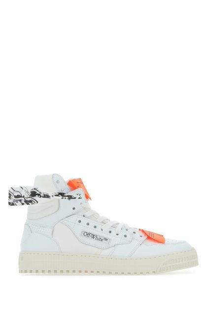 White leather and canvas Off Court 3.0 sneakers