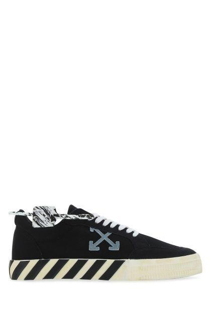 Black canvas Vulcanized sneakers