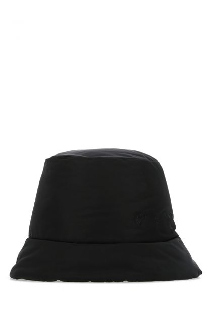 Black polyester bucket hat