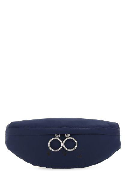 Blue nylon belt bag