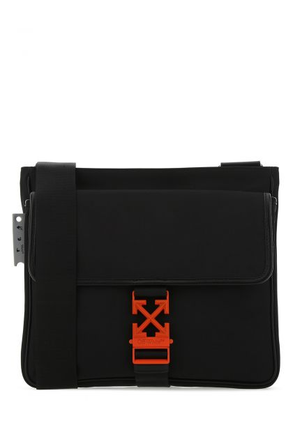 Black nylon Arrow crossbody bag