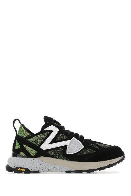 Multicolor tech fabric and suede Rocx sneakers