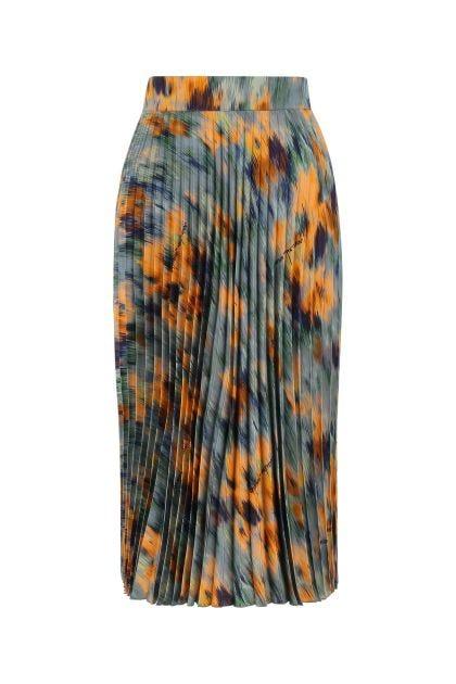 Printed viscose skirt