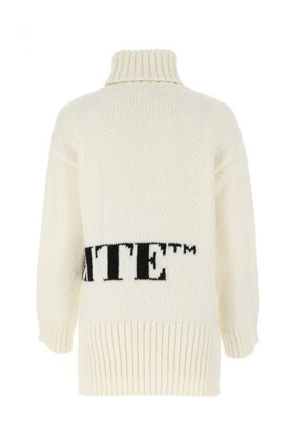 Ivory wool blend oversize sweater