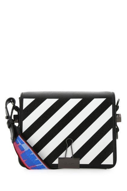 Black leather Diag handbag