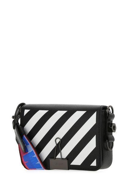 Black leather mini Diag crossbody bag